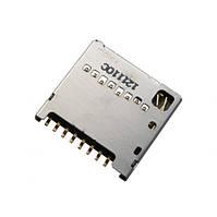 Connector Sim LG D285/ D325/ D380/ E455/ E615/ P715/ T370/ T375 (на 2 сим карты)