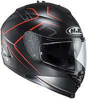 Шлем HJC IS17 Lank MC1SF черно-красный, M