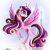 """Картина для рисования камнями Diamond painting """"Принцесса Пони с крыльями"""" полная выкладка"""