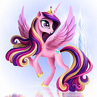 """Картина для рисования камнями Diamond painting """"Принцесса Пони с крыльями"""" полная выкладка, фото 1"""