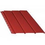 Панель софит (красный) без перфорации/с перфорацией