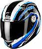 "ШЛЕМ Scorpion EXO-1000 AIR PIPELINE Black/Blue Type E11 ""L"", арт.25-120-66, арт. 25-120-66"