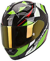 "ШЛЕМ Scorpion EXO-1200 AIR STELLA black/green/red ""L"", арт. 45-163-128"