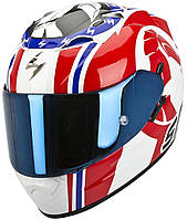 "ШЛЕМ Scorpion EXO-1200 AIR Stinger white/red/blue ""L"", арт. 45-164-125"
