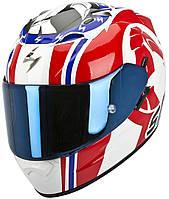 "ШЛЕМ Scorpion EXO-1200 AIR Stinger white/red/blue ""S"", арт. 45-164-125"