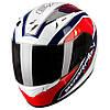 "Шлем Scorpion EXO-2000 AIR PERFORMER Pearl White/Blue/Red Type E11 ""L"", арт.26-116-85, арт. 26-116-85"