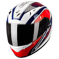 "ШЛЕМ Scorpion EXO-2000 AIR PERFORMER Pearl White/Blue/Red Type E11 ""M"", арт.26-116-85, арт. 26-116-85"
