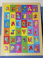 Игровой набор: Деревянные пазлы «Алфавит» - 36 элементов