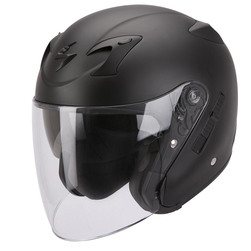 Открытый шлем Scorpion EXO-220 черный матовый, L