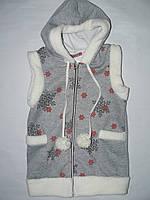 Жилетка, одежда для девочки трикотаж на флисе 140-176 р.