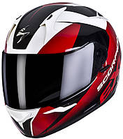 "ШЛЕМ Scorpion EXO-410 AIR SLICER White\Black\Red ""L"", арт.41-132-84, арт. 41-132-84"