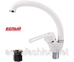 Кухонный смеситель гранит белый Potato P5922-7