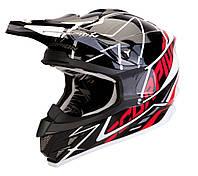 Мото шлем кроссовый Scorpion VX-15 Air Sprint black-white-red, XL
