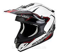 Мото шлем кроссовый Scorpion VX-15 Air Legerro черно-белый, M, фото 1