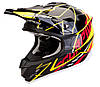 Мото шлем кроссовый Scorpion VX-15 Air Sprint black-yellow-red, S