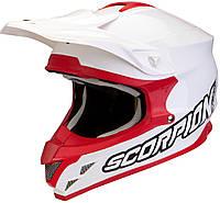 Мото шлем кроссовый Scorpion VX-15 красно-белый, S