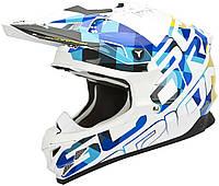 Шлем внедорожный Scorpion VX-15 EVO Air Grid pearl white/blue, L