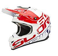Шлем внедорожный Scorpion VX-15 EVO Air Grid pearl white/red/blue, M