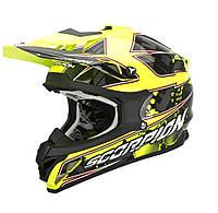 Шлем внедорожный Scorpion VX-15 EVO Air Magma black/neon yellow, M
