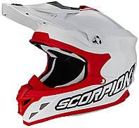 Шлем внедорожный Scorpion VX-15 EVO Air белый/красный, M