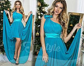 Платье вечернее, размеры УН (42-46) код 609Р, фото 3