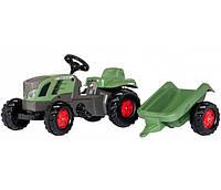 Трактор педальный  с прицепом KID FENDT ROLLY TOYS зеленый