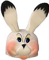 Шапка  поролон Заяц белый