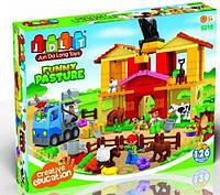 Конструктор для малышей Веселая ферма 120 деталей