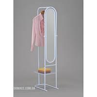 Зеркало напольное с перекладиной для одежды и полочкой для мелочей DA MS-9089