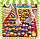 Коврик для детей массажный с цветными камнями 200х40 см, фото 2