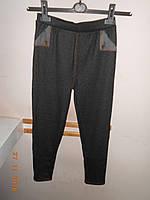 Трикотажные джинсы на флисовой подкладке, фото 1