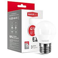 Светодиодная лампа Maxus G45 F 4W 4100K 220V E27 (1-LED-5410)