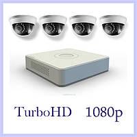 Комплект видеонаблюдения на 4 TurboHD камеры 1080p