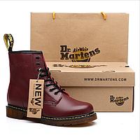 Оригинальные ботинки Dr.Martens 1460 (Бордовые) Размеры 43, 44, 45