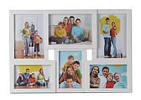 Мультирамка для фото Angel Gifts 6 в 1 белая BIN-1122960 (w)