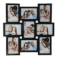 Мультирамка для фото Angel Gifts 9 в 1 черная BIN-112205