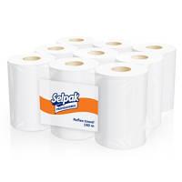 Selpak полотенца бумажные целлюлозные с центральной вытяжкой, 140 м