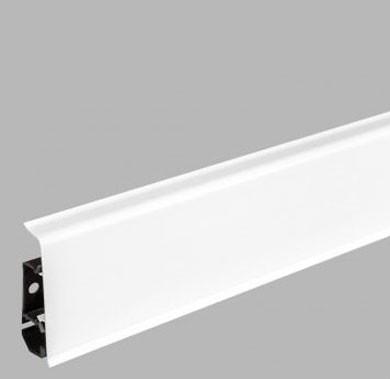 Плинтус пластиковый напольный Arbiton Indo LM70 Белый глянец 01