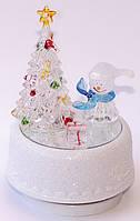 "Новогодний LED светильник ""Снеговик у елки"""