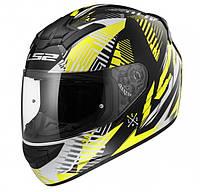 Шлем интеграл LS2 FF352 ROOKIE INFINITE WHITE BLACK YELLOW