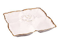 Менажница Lefard Роза со стеклянним салатником 30 см 590-054