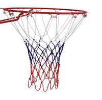 Сетка баскетбольная  бело-красная, вес180гр