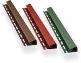J-профиль (коричневый, красный, графит, зеленый, кирпичный)