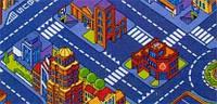 Детский ковер для мальчиков Большой город 2х3