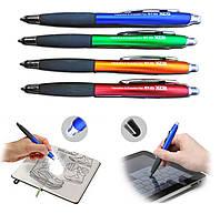 Ручка шариковая АВТОМАТ+ СТИРАЕТ +СТИЛУС, 0,8мм, синяя.