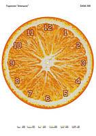 """Схема для вишивки бісером """"Годинник Апельсин"""" D-398"""