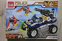 Конструктор полиция, машина, фигурки 356 детали тм Brick