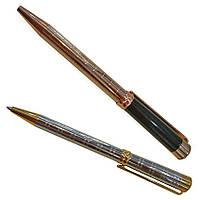 Ручка шариковая золотое серебро