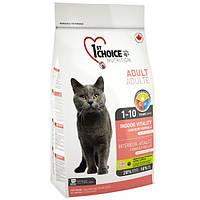 1st Choice (Фест Чойс) ADULT Indoor Vitality - корм для кошек (курица), 10кг