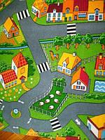 Детский ковер  с дорогами Деревня 3х4